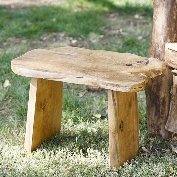 Premium Teak Garden Bench Small, Small Outdoor Benches