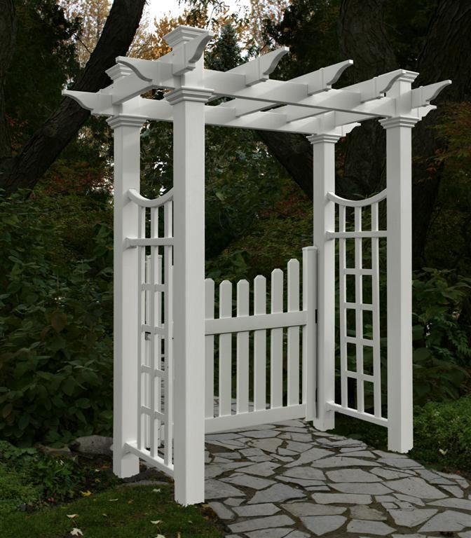 Cottage Arbor Picket Gate