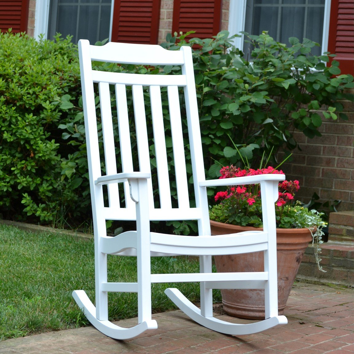 World S Finest Outdoor Rocker Painted White