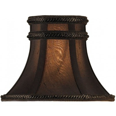 Currey & Company Charcoal Brown Silk Lamp Shade  by Currey & Company