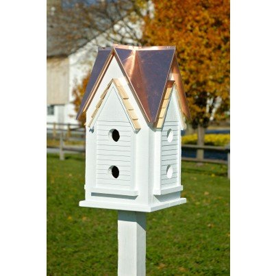 White with Bright Copper Roof A