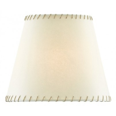 Currey & Company Natural Stitched Parchment Shade   by Currey & Company