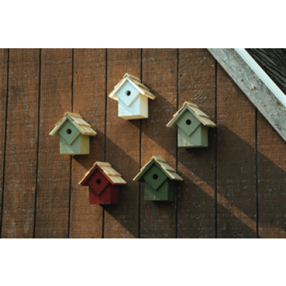 Heartwood Summer Home Birdhouse Set - Natural Colors  by Heartwood