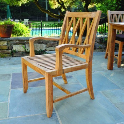 Kingsley Bate Somerset Teak Dining Armchair  by Kingsley Bate