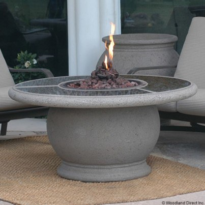 Amphora Round Fire Pit Table with Granite Top  by CGProducts