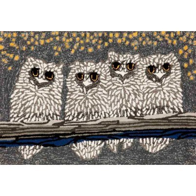 "Trans-Ocean Frontporch Owls Night Rug 20""X30""  by TransOcean"