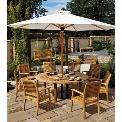Barlow Tyrie Napoli 13' Round Telescopic Umbrella  by Barlow Tyrie