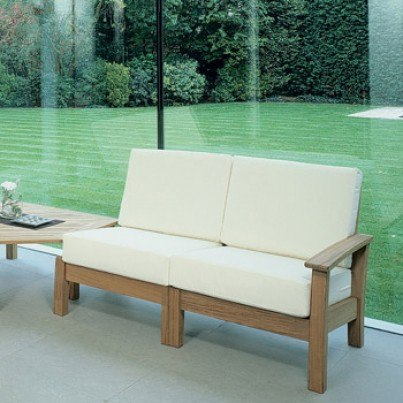 Barlow Tyrie Haven Teak Deep Seating Right Arm Facing Frame  by Barlow Tyrie