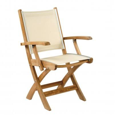 Kingsley Bate St. Tropez Teak Dining Armchair (Folding)  by Kingsley Bate