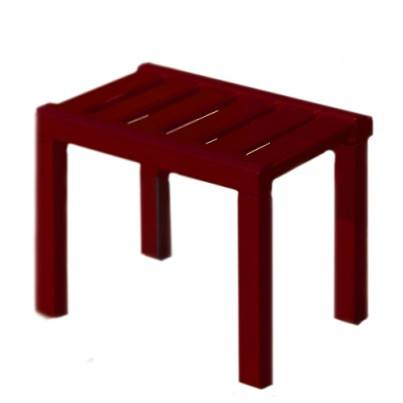 Americana Outdoor Footstool - Weathered Wine  by Frontera Furniture Company