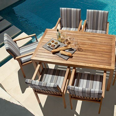 Barlow Tyrie Linear Teak Dining Table 150  by Barlow Tyrie