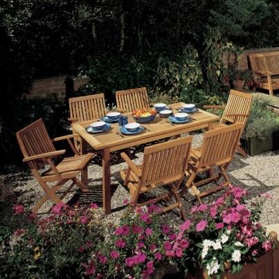 Barlow Tyrie Monaco Teak Rectangular Dining Table  by Barlow Tyrie