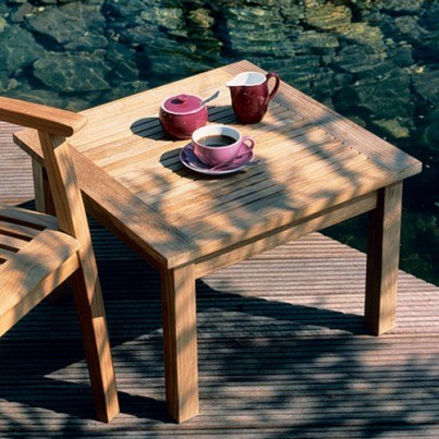 """Barlow Tyrie Monaco Teak Square Low Coffee Table, 23""""  by Barlow Tyrie"""