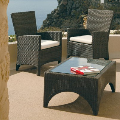 "Barlow Tyrie Savannah Wicker Rectangular Coffee Table, 59.25""  by Barlow Tyrie"