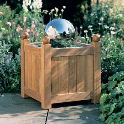 "Barlow Tyrie Caisse Versailles Teak 18"" Planter  by Barlow Tyrie"