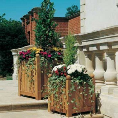 "Barlow Tyrie Caisse Versailles Teak 24"" Planter  by Barlow Tyrie"