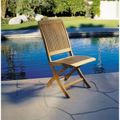 Kingsley Bate Monterey Teak Folding Side Chair  by Kingsley Bate