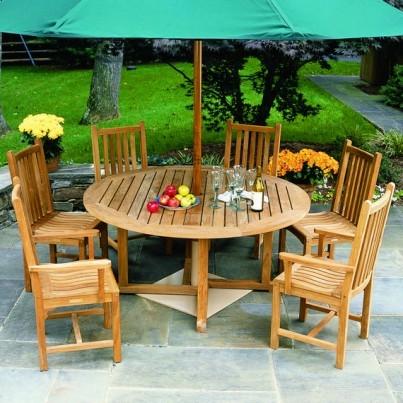 """Kingsley Bate Essex Teak Dining Table 60""""  by Kingsley Bate"""