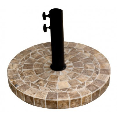"Outdoor Interiors 20"" Heavy Duty Umbrella Base (Brown Marble)  by Outdoor Interiors"