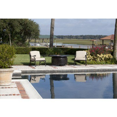 Venza Cast Aluminum Round LPG Fire Pit  by Frontera Furniture Company