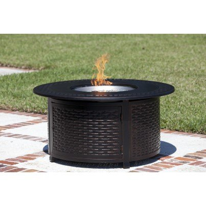 Bellante Woven Cast Aluminum LPG Fire Pit  by Frontera Furniture Company