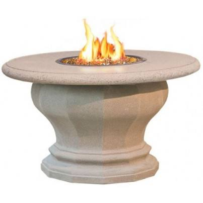 Inverted Dining Fire Pit Table with Concrete Top  by CGProducts