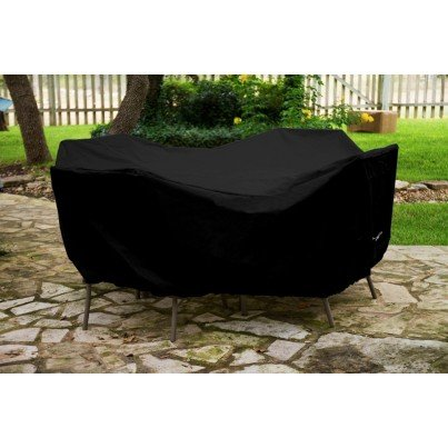 """Protective Weathermax™ 36"""" Round Table Dining Set Cover - Black  by Koveroos"""
