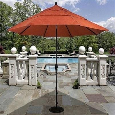 Treasure Garden 11' Auto Tilt Center Post Umbrella  by Treasure Garden