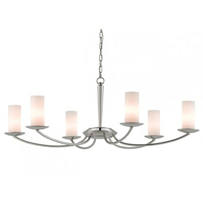 Currey & Company Myles Wrought Iron/Glass Chandelier  by Currey & Company