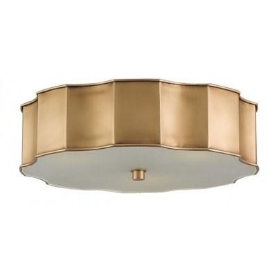 Currey & Company Wexford Brass/Glass Flush Mount  by Currey & Company