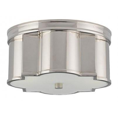 Currey & Company Wicklow Brass/Glass Flush Mount  by Currey & Company