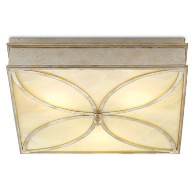 Currey & Company Beeleigh Wrought Iron/Acrylic Flush Mount  by Currey & Company