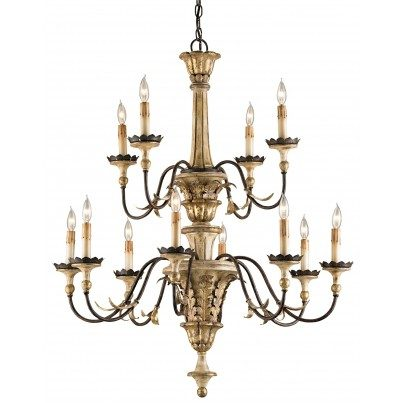 Currey & Company Adara Iron/Resin Chandelier  by Currey & Company