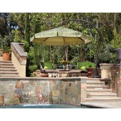 Treasure Garden 11' Octagonal Cantilever Crank Tilt Offset Umbrella  by Treasure Garden