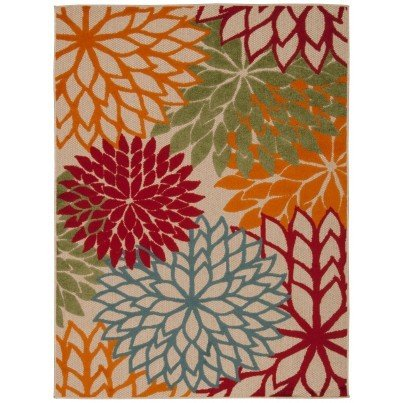 Nourison Indoor/Outdoor Aloha ALH05 Rug - Green 2x4  by Nourison