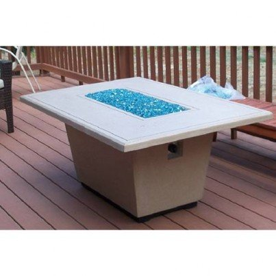 Cosmopolitan Rectangle Fire Pit Table  by CGProducts