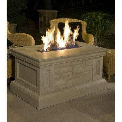 Rectangular Fire Pit Table  by CGProducts