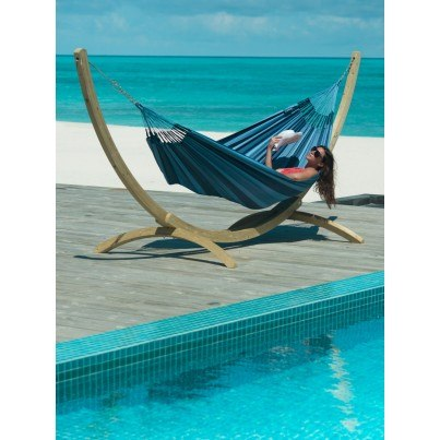 La Siesta Aventura Weather-resistant Double Hammock - River Blue  by La Siesta