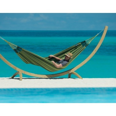 La Siesta Aventura Weather-resistant Double Hammock - Forest Green  by La Siesta