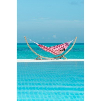 La Siesta Aventura Weather-resistant Double Hammock - Wild Rose  by La Siesta