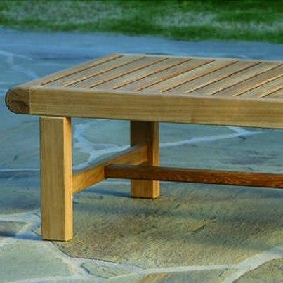 Kingsley Bate Nantucket Teak Rectangular Coffee Table  by Kingsley Bate