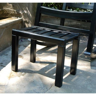 Americana Outdoor Footstool - Painted Black  by Frontera Furniture Company