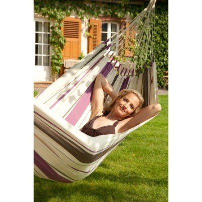 La Siesta Caribeña Cotton Single Classic Hammock - Purple  by La Siesta