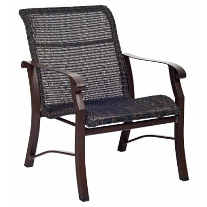 Woodard Cortland Aluminum Round Weave Lounge Chair  by Woodard