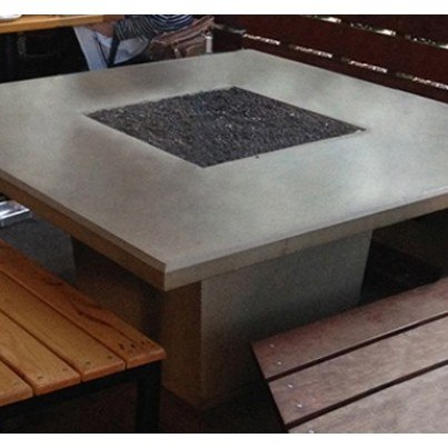 Cosmopolitan Square Dining Fire Pit Table  by CGProducts