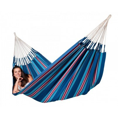 La Siesta Currambera Cotton Double Hammock - Blueberry  by La Siesta