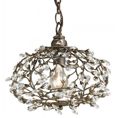 Currey & Company Dream Wrought Iron/Crystal Chandelier  by Currey & Company