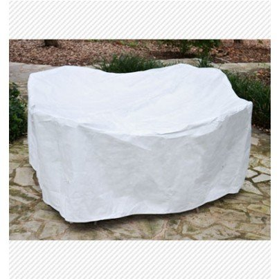 Round Table Dining Set Cover - White  by Koveroos