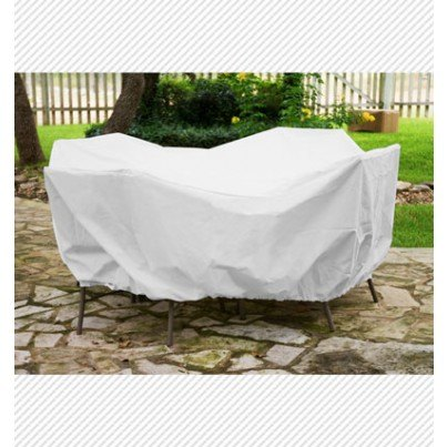 """Protective Weathermax™ 48"""" Round Table Dining Set Cover - White  by Koveroos"""