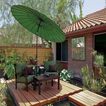 Treasure Garden 10' Shanghai Collar Tilt Umbrella  by Treasure Garden